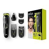 Braun 6-in-1 Multi-Grooming-Kit MGK3021, Barttrimmer und Haarschneider, Ohr- und...