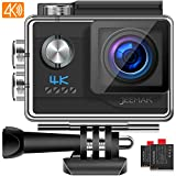 JEEMAK Action Cam 4K UHD 20MP Sport Kamera WiFi 170 ° Wasserdichte Actionkamera 40m...
