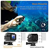 APEMAN Action Kamera WIFI sports cam 4K camera 20MP Ultra Full HD Unterwasserkamera...