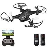 tech rc Drohne mit Kamera HD FPV RC Mini Drone mit 2 Akkus 2.4Ghz Ferngesteuerte...