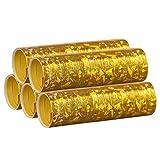 Silber & Gold Mix - Metallic Luftschlangen im 5er Sparpack - 5 Rollen mit je 18...