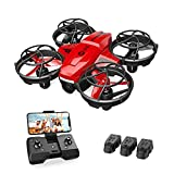 Holy Stone HS420 Mini Drohne mit Kamera für Kinder, RC Quadrocopter mit 3 Batterien...