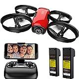 SANROCK U61W Drohne für Kinder mit Kamera, 2 Batterien, APP und Fernbedienung 720P...