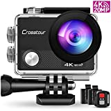 Crosstour CT9000 Action Cam Unterwasserkamera (4K 20MP WiFi Unterwasser 40M...