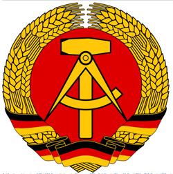 DDR Emblem - Hammer und Zirkel im Ährenkranz.
