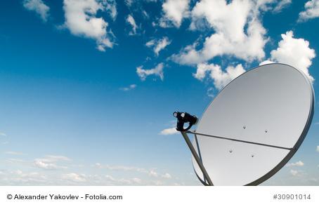 Satelliten-Schüssel zum Empfang von Sky
